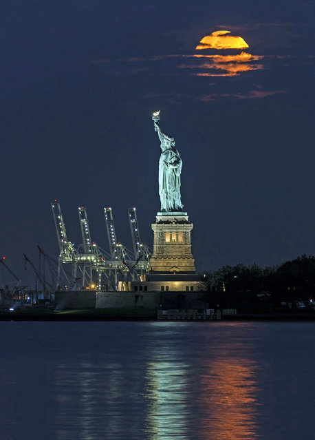 The statue of liberty in New York City, New York. (Photo by Peter Alessandria/Caters News)