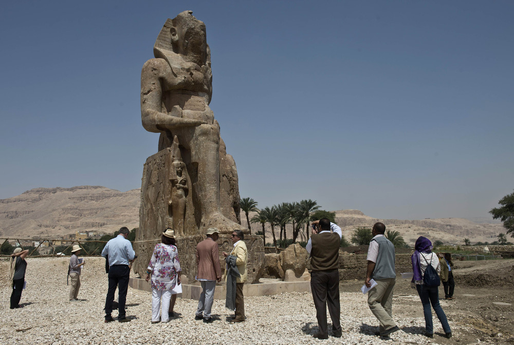 Huge Pharaonic Statues Unveiled in Egyptian Temple City