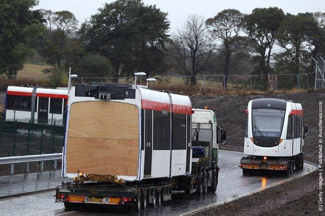 The First Tram Arrives In Edinburgh