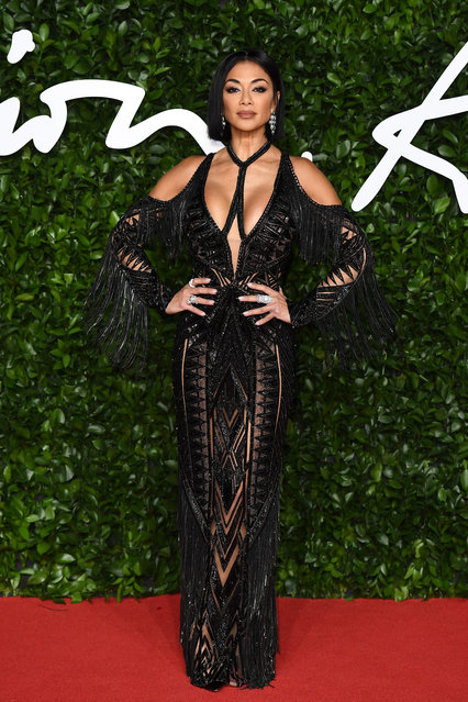Nicole Scherzinger arrives at The Fashion Awards 2019 held at Royal Albert Hall on December 02, 2019 in London, England. (Photo by Jeff Spicer/BFC/Getty Images)