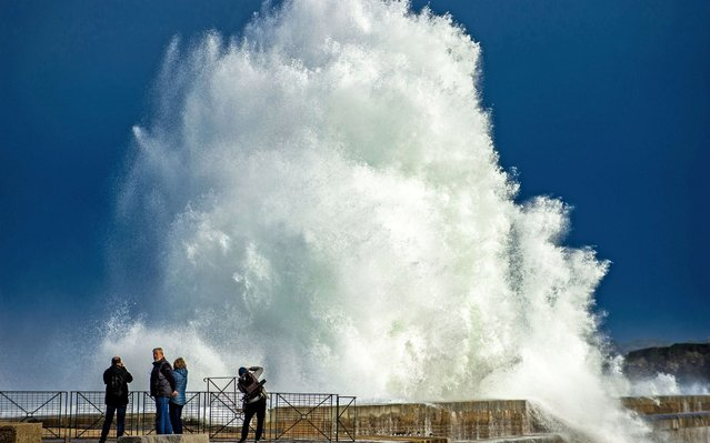 Big swell and strong winds in Anglet, France on December 23, 2019. (Photo by Greg Rabejac/SIPA Press/Rex Features/Shutterstock)