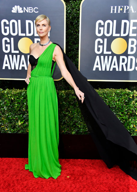 Charlize Theron attends the 77th Annual Golden Globe Awards at The Beverly Hilton Hotel on January 05, 2020 in Beverly Hills, California. (Photo by Frazer Harrison/Getty Images)