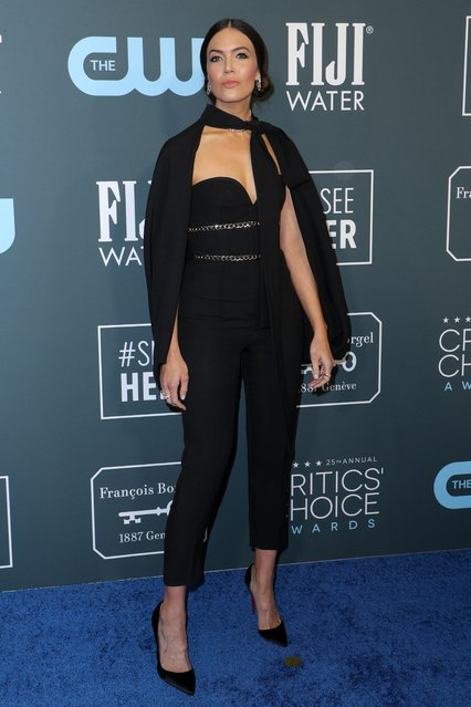 Mandy Moore attends the 25th Annual Critics' Choice Awards at Barker Hangar on January 12, 2020 in Santa Monica, California. (Photo by John Salangsang/Rex Features/Shutterstock)