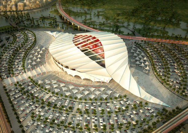In this handout image supplied by Qatar 2022  The Al-Khor stadium is pictured in this artists impression as Qatar 2022 World Cup bid unveils it's stadiums on September 16, 2010 in Doha, Qatar. (Photo by Qatar 2022 via Getty Images)