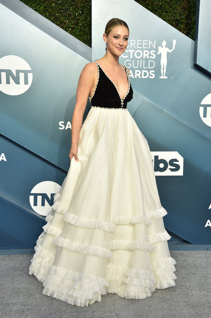 Lili Reinhart attends the 26th Annual Screen ActorsGuild Awards at The Shrine Auditorium on January 19, 2020 in Los Angeles, California. (Photo by Gregg DeGuire/Getty Images for Turner)