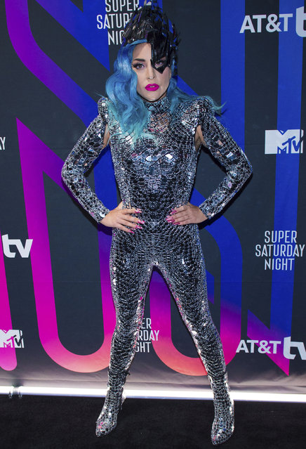Lady Gaga attends theAT&T TV Super Saturday Nightat Meridian on Island Gardens in Miami on Saturday, February 1, 2020, in Miami , Fla. (Photo by Scott Roth/Invision/AP Photo)