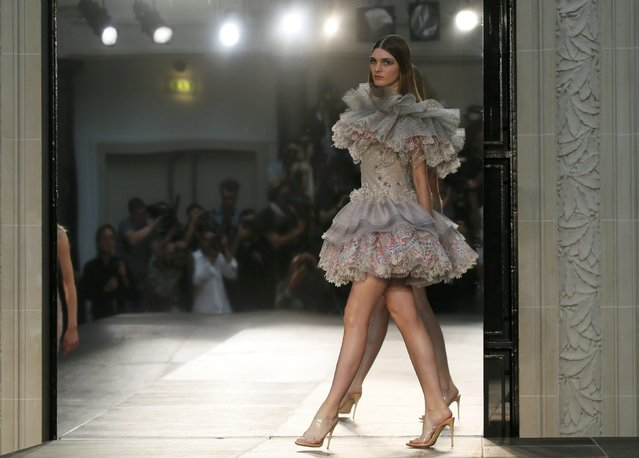 A model presents a creation by French designer Alexis Mabille as part of his Haute Couture Fall/Winter 2016/2017 collection in Paris, France, July 5, 2016. (Photo by Gonzalo Fuentes/Reuters)