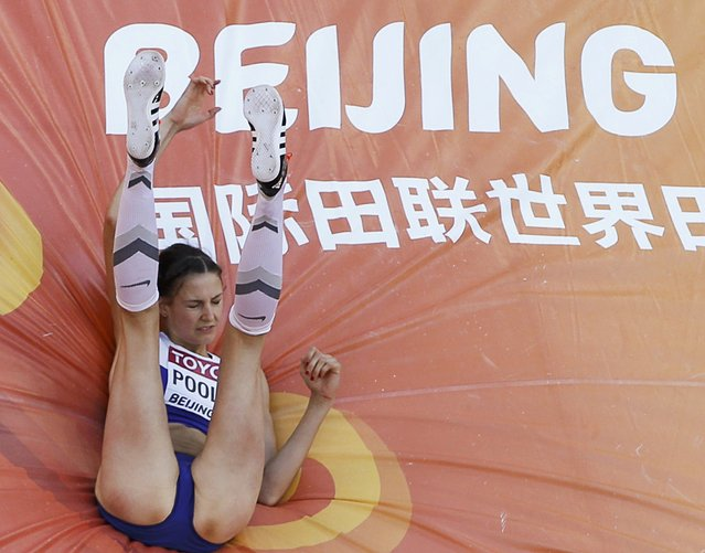 Isobel Pooley of Britain competes in the high jump qualification event at the 15th IAAF World Championships at the National Stadium in Beijing, China, August 27, 2015. (Photo by Kim Kyung-Hoon/Reuters)
