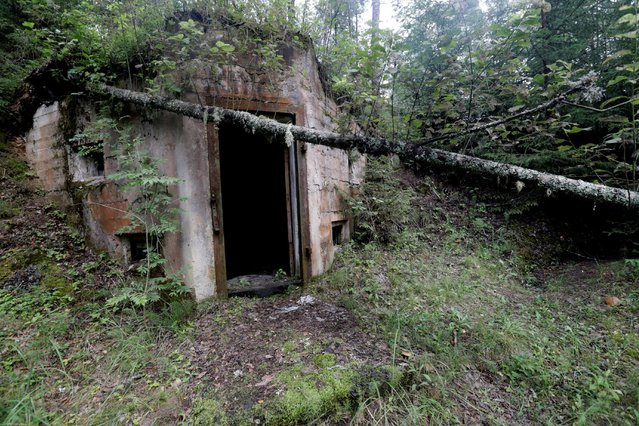 Entrance to the underground premises is pictured at the abandoned former Soviet R12 nuclear missile base in Zeltini, Latvia, July 22, 2016. (Photo by Ints Kalnins/Reuters)