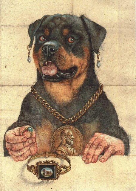 Cellinis Hund. Artwork by Michael Mathias Prechtl