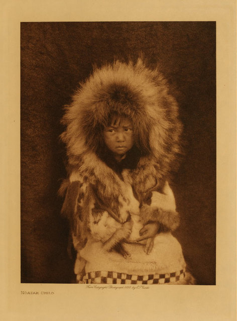 A Noatak child in 1928. (Photo by Edward S. Curtis)