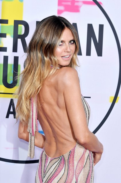 Heidi Klum attends the 2017 American Music Awards at Microsoft Theater on November 19, 2017 in Los Angeles, California. (Photo by Neilson Barnard/Getty Images)