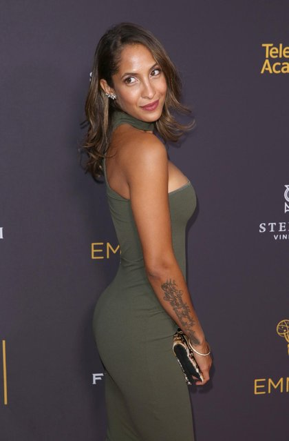 Christel Khalil arrives at the 2016 Daytime Peer Group Celebration presented by the Television Academy at their Saban Media Center on Wednesday, August 24, 2016, in North Hollywood, Calif. (Photo by Matt Sayles/Invision for the Television Academy/AP Images)