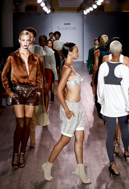 Models walk the runway at the FrontRow fashion show duringStyle360 Fashion Week September 2016 at Metropolitan West on September 14, 2016 in New York City. (Photo by Brian Ach/Getty Images)