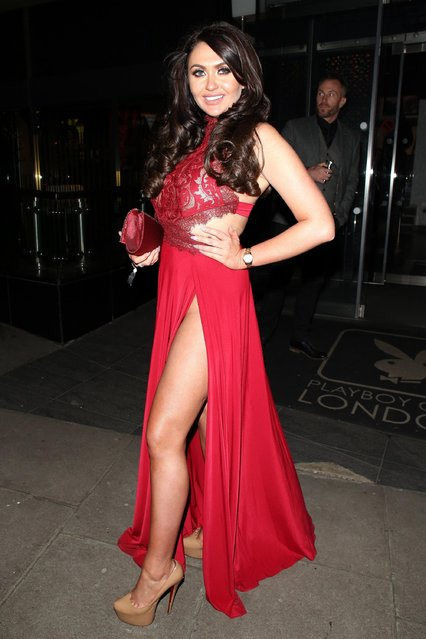 Charlotte Dawson at The Playboy Club on February 22, 2018 in London, England. (Photo by Mark Milan/GC Images)