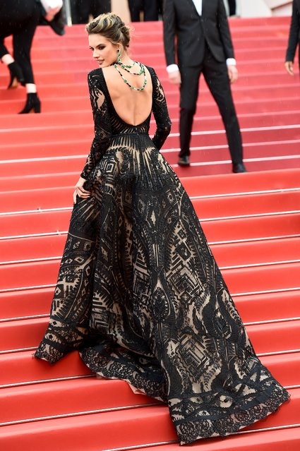 """Brazilian model Alessandra Ambrosio attends the screening of """"Blackkklansman"""" during the 71st annual Cannes Film Festival at Palais des Festivals on May 14, 2018 in Cannes, France. (Photo by Vittorio Zunino Celotto/Getty Images)"""