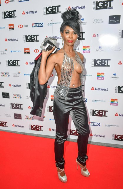 Sinitta attends the British LGBT Awards 2018 at the London Marriott Hotel, Grosvenor Square, on May 11, 2018 in London, England. (Photo by Barcroft Media)