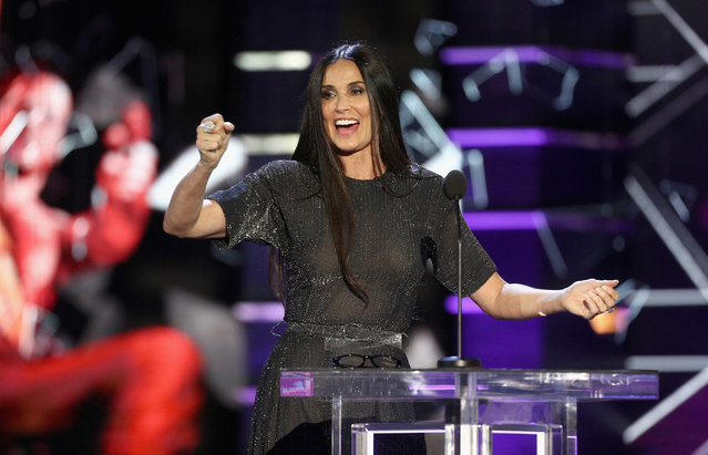 Demi Moore speaks onstage during the Comedy Central Roast of Bruce Willis at Hollywood Palladium on July 14, 2018 in Los Angeles, California. (Photo by Frederick M. Brown/Getty Images)