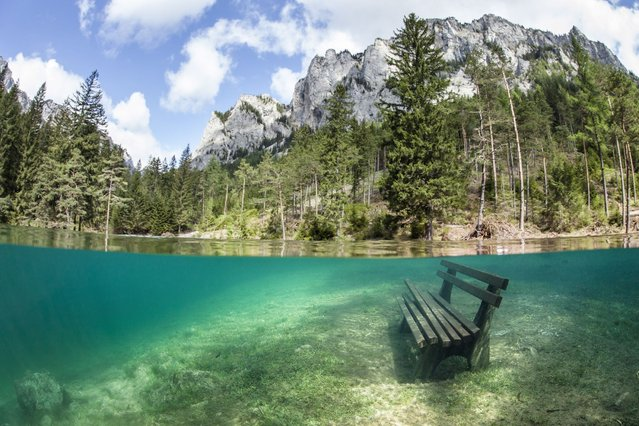 Photographs appear to show a spectacular underwater world making it ideal for scuba divers – in central Europe, on September 7, 2013. (Photo by Solent News)
