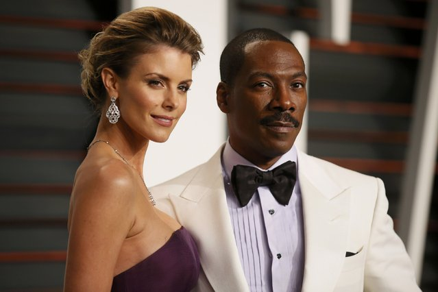 Comedian Eddie Murphy and Paige Butcher arrive at the 2015 Vanity Fair Oscar Party in Beverly Hills, California February 22, 2015. (Photo by Danny Moloshok/Reuters)