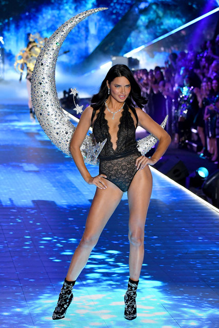Adriana Lima walks the runway during the 2018 Victoria's Secret Fashion Show at Pier 94 on November 8, 2018 in New York City. (Photo by Kevin Mazur/WireImage)