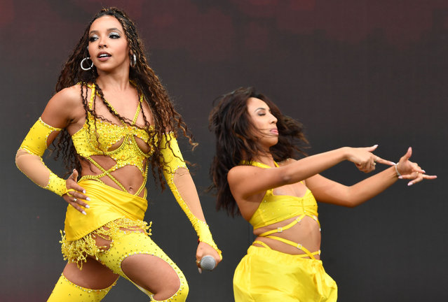 Tinashe Jorgensen Kachingwe, known mononymously as Tinashe  performs during 2021 Made In America at Benjamin Franklin Parkway on September 05, 2021 in Philadelphia, Pennsylvania. (Photo by Stephen Lovekin/Rex Features/Shutterstock)