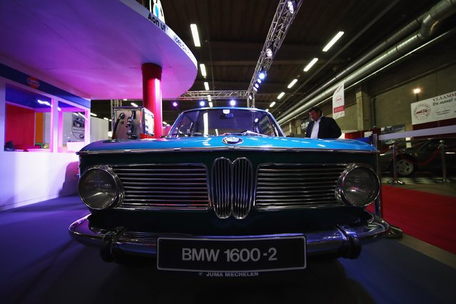 A detailed view of the BMW 1600 during the The 40th Antwerp Classic Salon run by SIHA Salons Automobiles and held at Antwerp EXPO Halls on March 3, 2017 in Antwerpen, Belgium. (Photo by Dean Mouhtaropoulos/Getty Images)