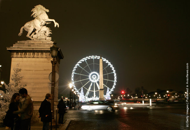 A general view of the Christmas illuminations 2011 on Champs-Elysees