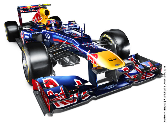 Studio shot of the new Red Bull Racing RB8 Formula One car is released