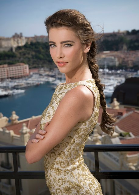 Canadian actress Jacqueline MacInnes Wood attends 'The Bold and The Beautiful' portrait session in her hotel room of Hotel de Paris durind the annual  Monte Carlo Television Festival on June 6, 2010 in Monte-Carlo, Monaco