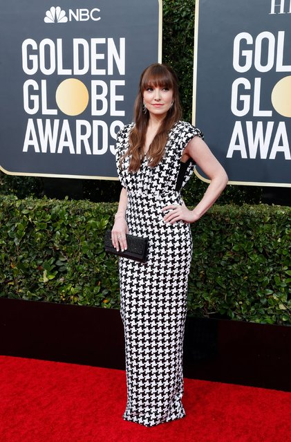 Lorene Scafaria arrives for the 77th annual Golden Globe Awards on January 5, 2020, at The Beverly Hilton hotel in Beverly Hills, California. (Photo by Mario Anzuoni/Reuters)