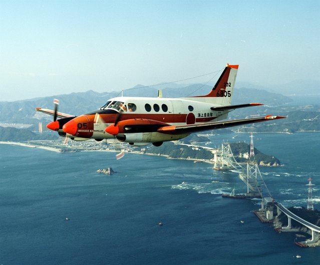 A Japan Maritime Self-Defense Forces' TC-90 training aircraft is seen in this undated handout photo released by the Japan Maritime Self-Defense Forces, and obtained by Reuters on August 5, 2015. Japan wants to give planes to the Philippines that Manila could use for patrols in the South China Sea, sources said, a move that would deepen Tokyo's security ties with the Southeast Asian nation most at odds with Beijing over the disputed waterway. (Photo by Reuters/Japan Maritime Self-Defense Force)