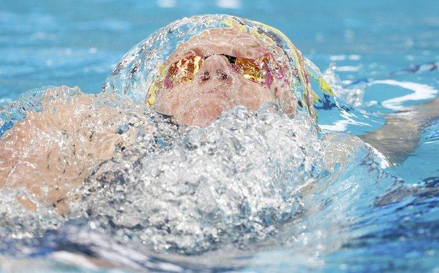 Emily Seebohm of Australia swims in women's 200m backstroke heat at the Aquatics World Championships in Kazan, Russia, August 7, 2015. (Photo by Stefan Wermuth/Reuters)
