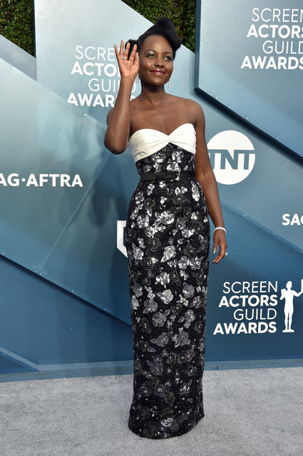 Lupita Nyong'o attends the 26th Annual Screen ActorsGuild Awards at The Shrine Auditorium on January 19, 2020 in Los Angeles, California. (Photo by Gregg DeGuire/Getty Images for Turner)