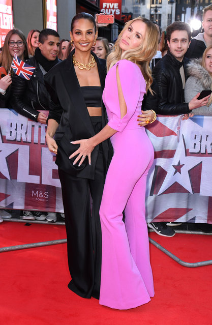 (L-R) Alesha Dixon and Amanda Holden attend the Britain's Got Talent 2020 photocall at London Palladium on January 19, 2020 in London, England. (Photo by Doug Peters/EMPICS)