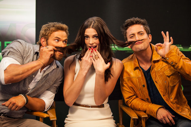 Actors Kellan Lutz, Ashley Greene and Jackson Rathbone attend the Movies On Demand lounge at Comic Con at Hard Rock Hotel San Diego on July 12, 2012 in San Diego