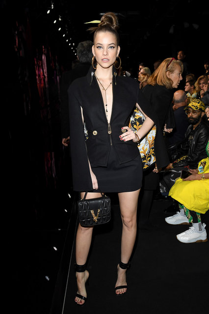 Barbara Palvin attends the Versace fashion show on February 21, 2020 in Milan, Italy. (Photo by Daniele Venturelli/Daniele Venturelli/Getty Images)