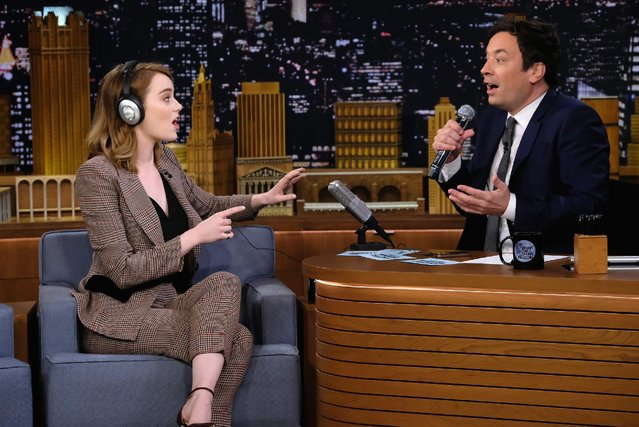 "Emma Stone Visits ""The Tonight Show Starring Jimmy Fallon"" at Rockefeller Center on December 1, 2016 in New York City. (Photo by Theo Wargo/Getty Images for NBC)"