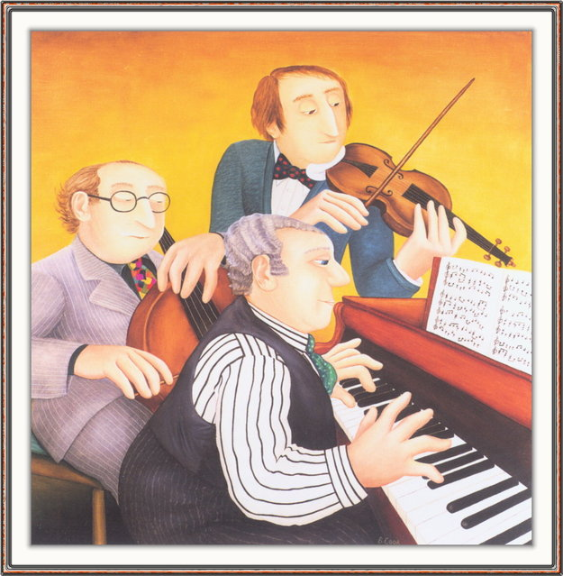 Musicians. Artwork by Beryl Cook