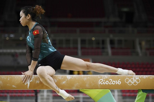 2016 Rio Olympics, Gymnastics training, Rio Olympic Arena, Rio de Janeiro, Brazil on August 4, 2016. Thanh Phan (VIE) of Vietnam trains on the beam. (Photo by Dylan Martinez/Reuters)