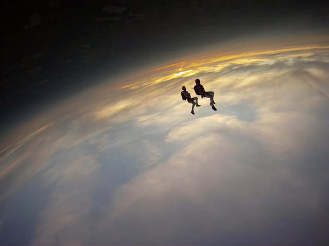 """2001: A Space Odyssey by Andy Godwin. Mind (and Earth) bending skydive photo from Andy Godwin"". (Photo by Andy Godwin)"