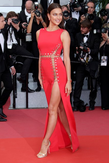 """Model Irina Shayk attends the screening of """"Sorry Angel (Plaire, Aimer Et Courir Vite)"""" during the 71st annual Cannes Film Festival at Palais des Festivals on May 10, 2018 in Cannes, France. (Photo by Matt Baron/Rex Features/Shutterstock)"""