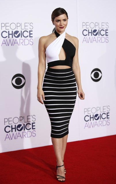 Singer Katharine McPhee arrives at the 2015 People's Choice Awards in Los Angeles, California January 7, 2015. (Photo by Danny Moloshok/Reuters)