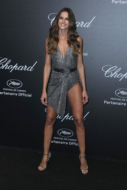 Model Izabel Goulart poses for photographers upon arrival at the Chopard Secret party during the 71st international film festival, Cannes, southern France, Friday, May 11, 2018. (Photo by Joel C. Ryan/Invision/AP Photo)