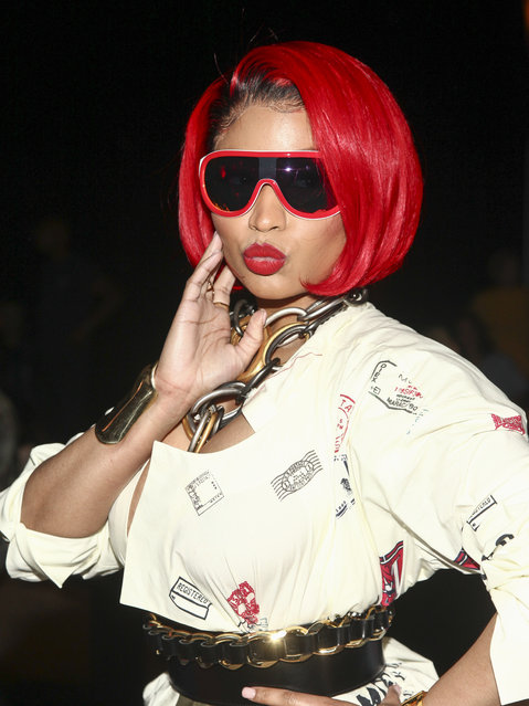 Nicki Minaj attends the NYFW Spring/Summer 2019 Monse fashion show at SIR Stage 37 on Friday, September 7, 2018, in New York. (Photo by Andy Kropa/Invision/AP Photo)