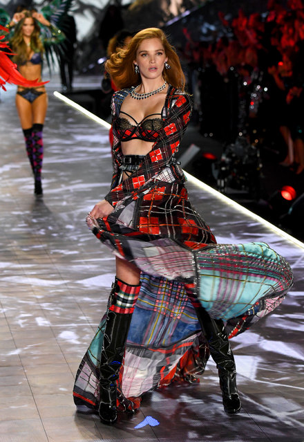 Alexina Graham walks the runway during the 2018 Victoria's Secret Fashion Show at Pier 94 on November 8, 2018 in New York City. (Photo by Kevin Mazur/WireImage)