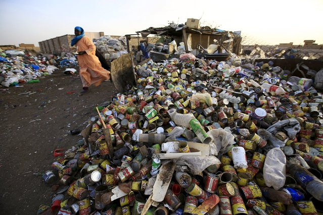 A woman brings plastic materials to a recycling station in Khartoum North April 16, 2015. (Photo by Mohamed Nureldin Abdallah/Reuters)