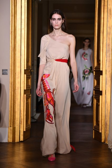 A model walks the runway during the Schiaparelli  Spring Summer 2017 show as part of Paris Fashion Week on January 23, 2017 in Paris, France. (Photo by Pascal Le Segretain/Getty Images)