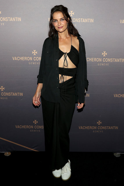 American actress Katie Holmes attends the Vacheron Constantin Flagship Grand Opening on September 08, 2021 in New York City. (Photo by Bennett Raglin/Getty Images)