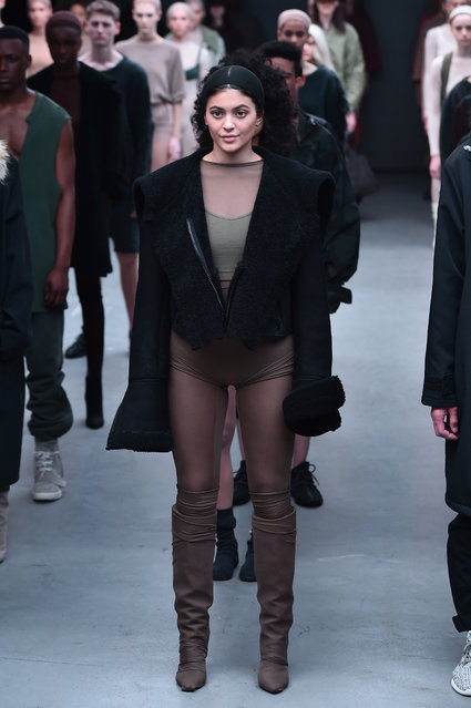 Kylie Jenner walks the runway at the adidas Originals x Kanye West YEEZY SEASON 1 fashion show during New York Fashion Week Fall 2015 at Skylight Clarkson Sq on February 12, 2015 in New York City. (Photo by Theo Wargo/Getty Images for adidas)